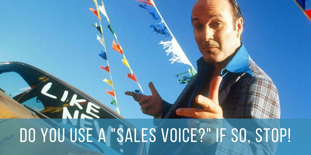 Using a sales voice