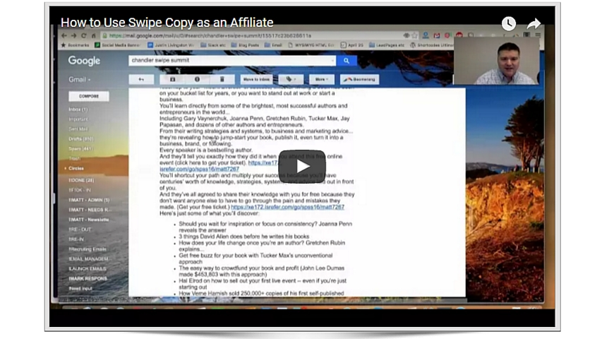How affiliates should use swipe copy