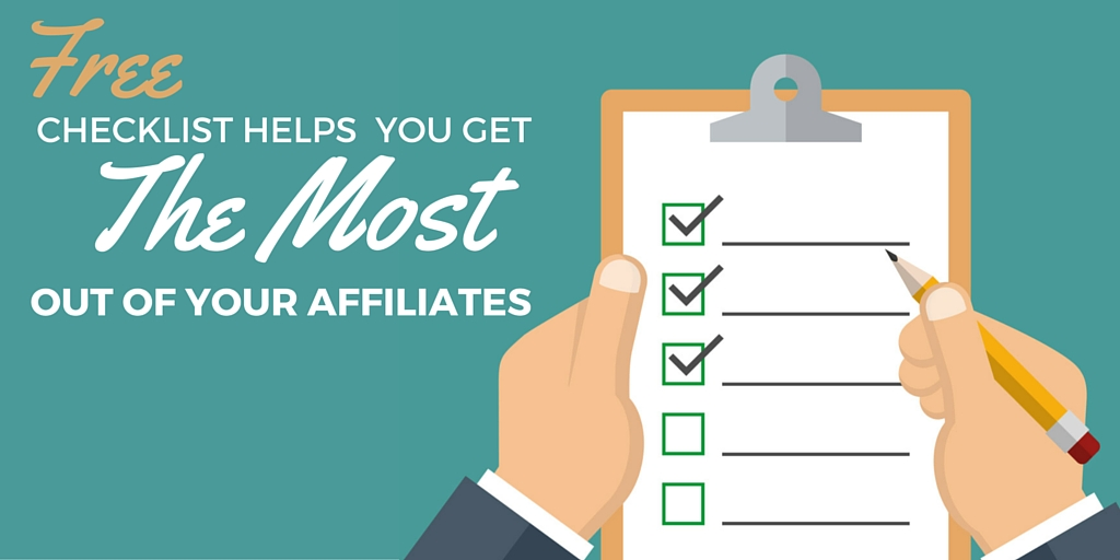 Checklist for affiliate promotions