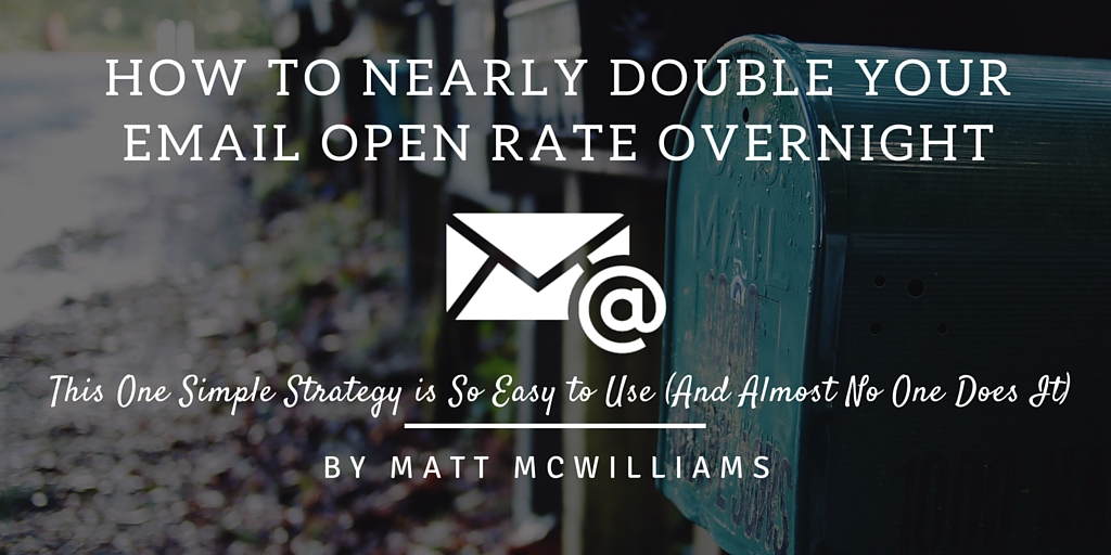 Double your email open rates