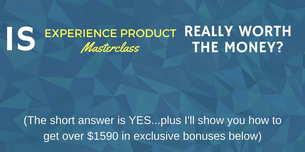 Review of Marisa Murgatroyd's Experience Product Masterclass