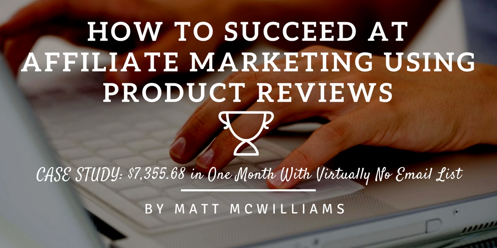 How to do an affiliate product review