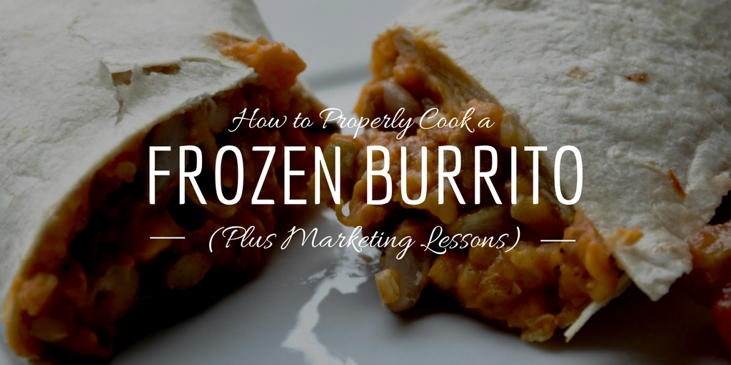 How do you cook a frozen burrito? Steam it!