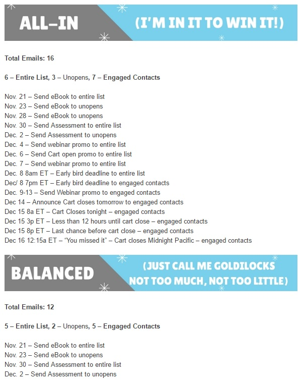 Product launch email plan for affiliates