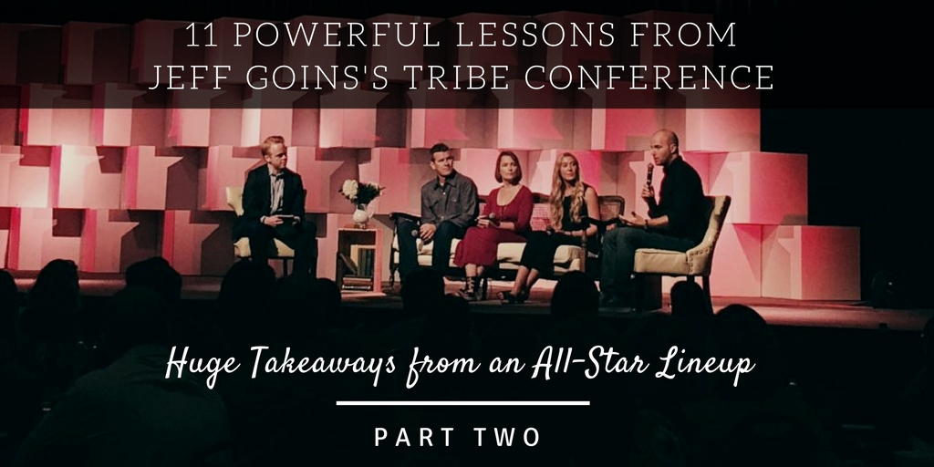 Speakers at Jeff Goins' Tribe Conference