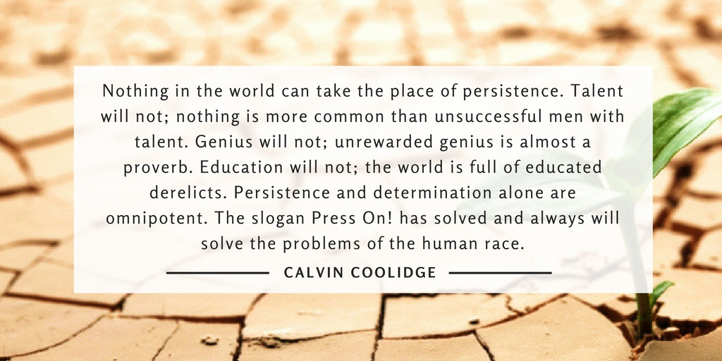 Persistence quote from Calvin Coolidge