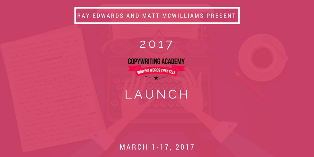 Affiliate program for Ray Edwards' Copywriting Academy