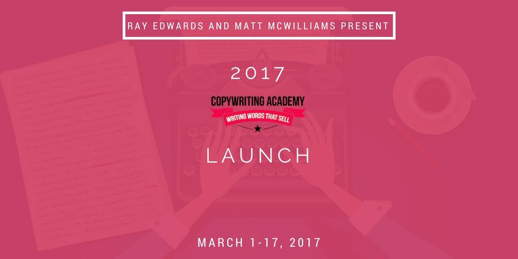 Affiliate program for Ray Edwards' Copywriting Academy