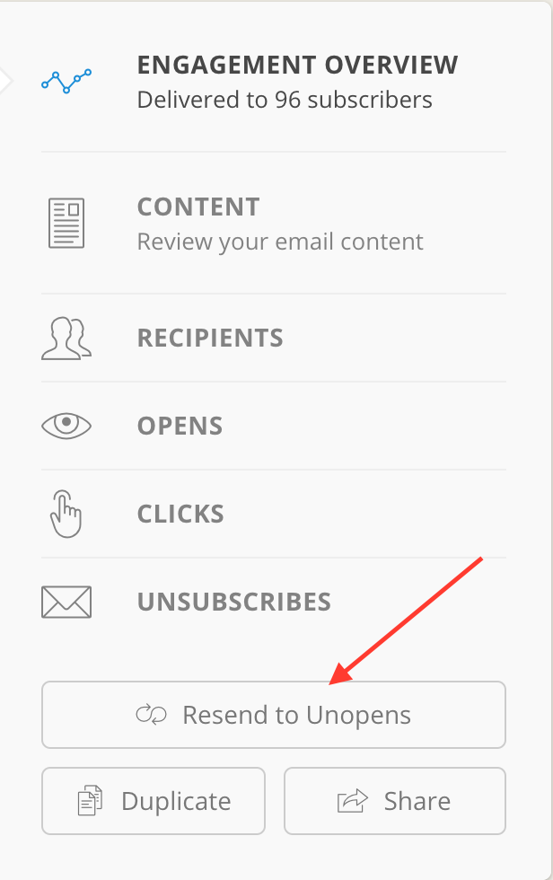 how to resend emails to unopens in ConvertKit