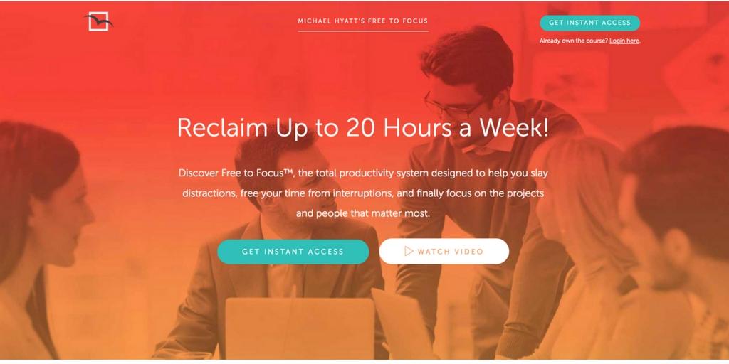 Affiliate program for productivity course