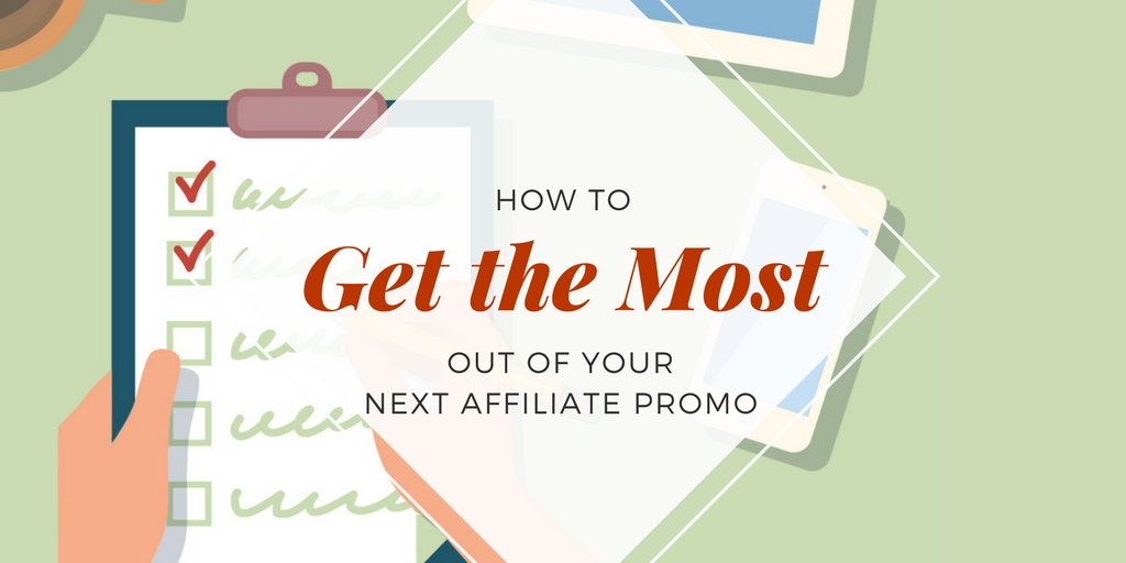 Checklist for affilite marketing promotions