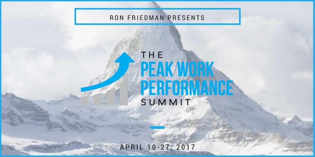 Peak Work Performance Summit affiliate program