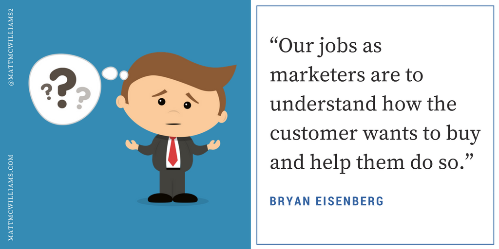Bryan Eisenberg quote on marketing and customers