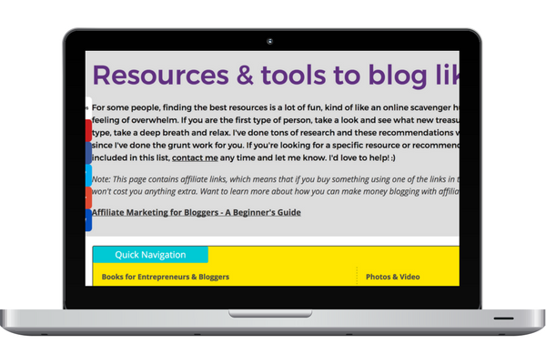 Chantel Arnett Blogging With a Smile Resource Page