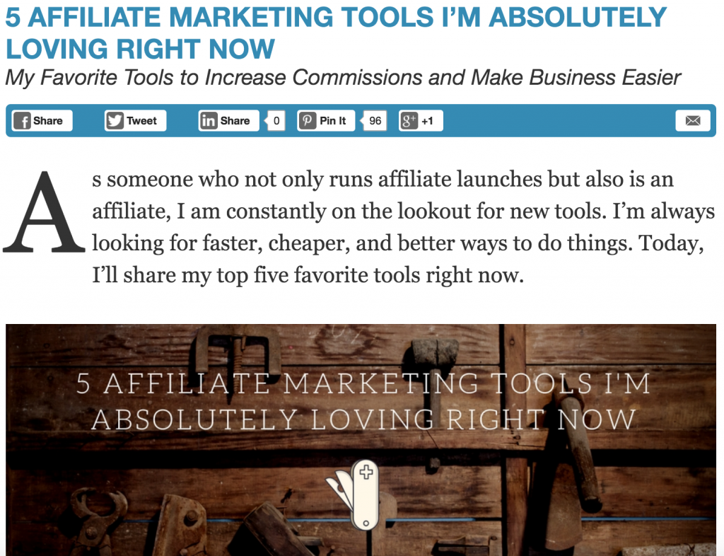affiliate marketing tools post