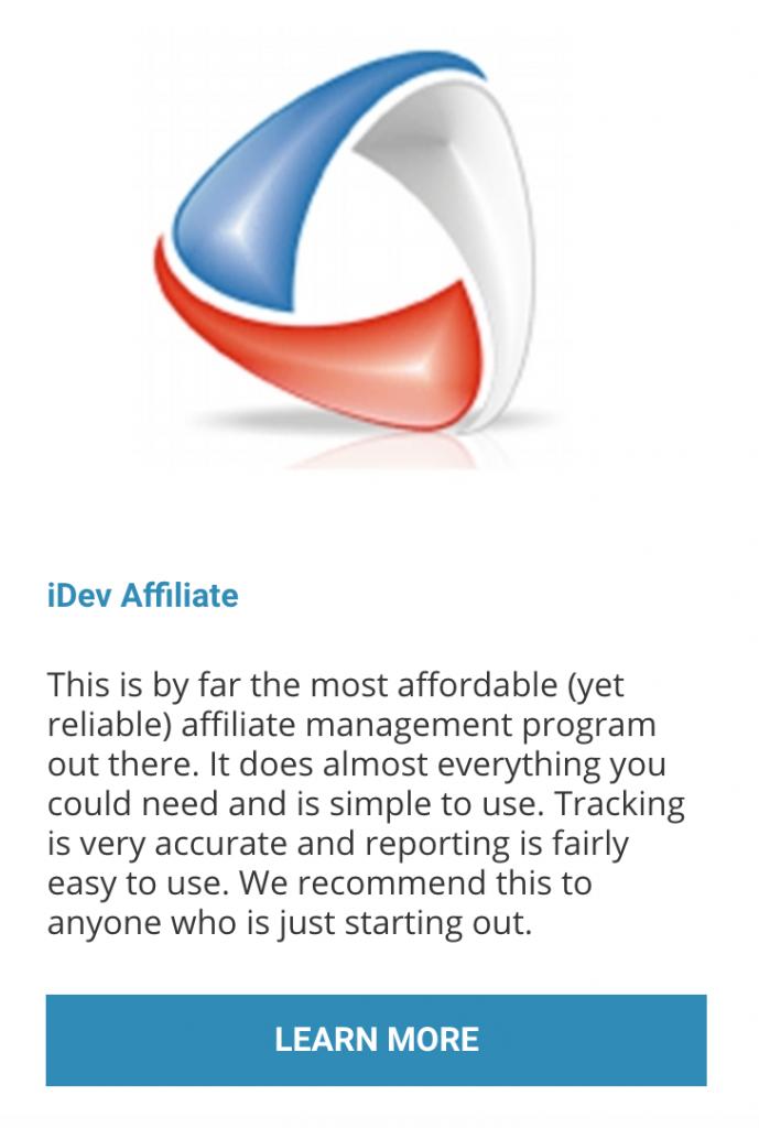 idev affiliate - Matt McWilliams resource page