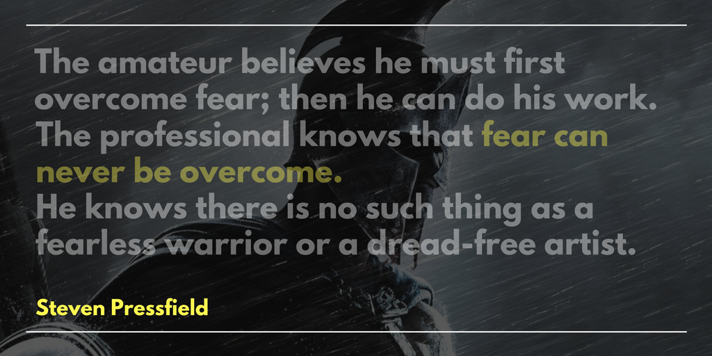 Steven Pressfield quote on fear