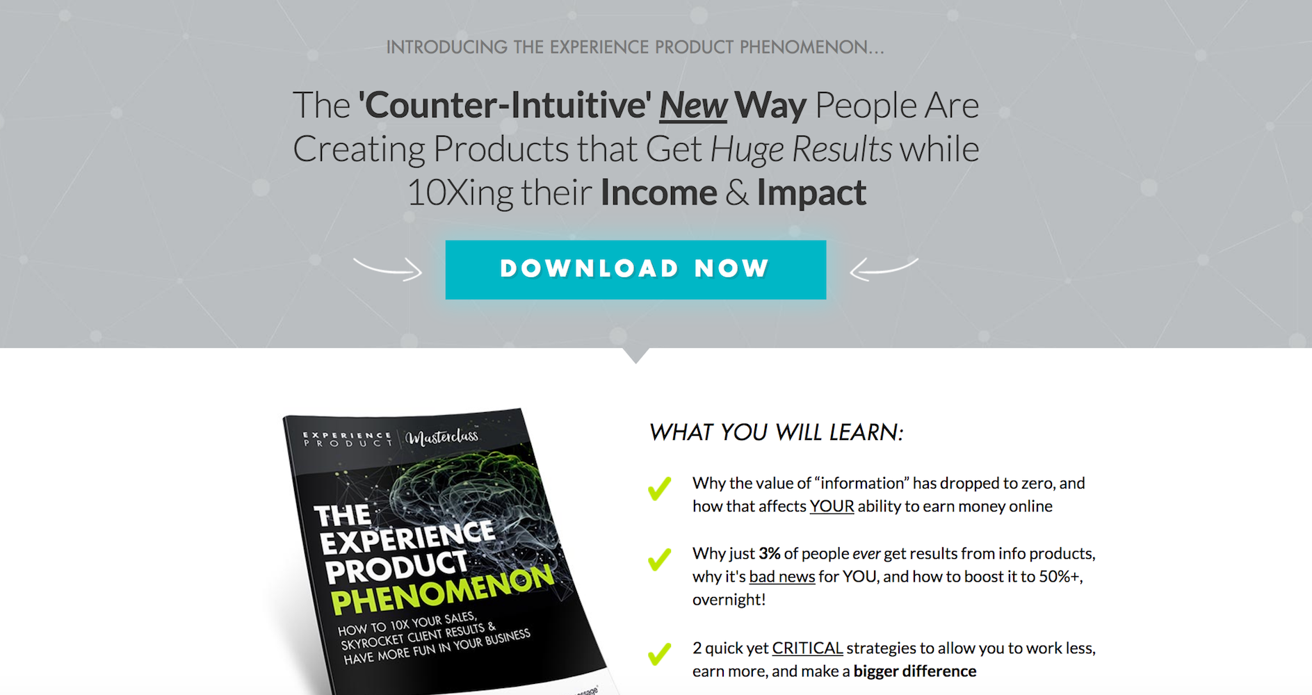 Experience Product Masterclass by Marisa Murgatroyd Free Report
