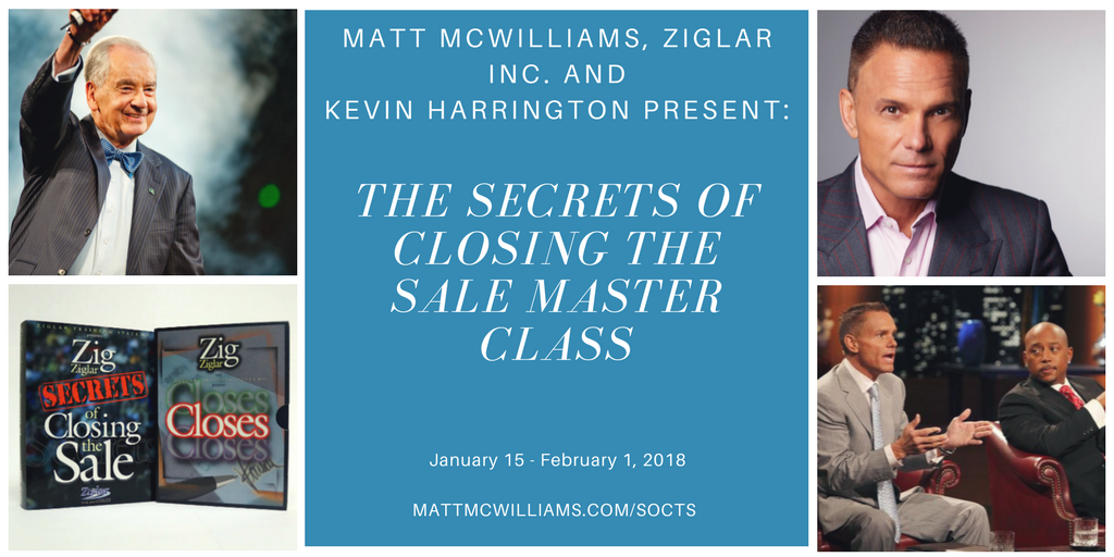 Secrets of Closing The Sale Zig Ziglar Kevin Harrington Affiliate Program