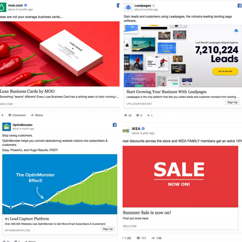 Guide ultime des publicités Facebook pour le marketing d'affiliation - exemples d'annonces Facebook