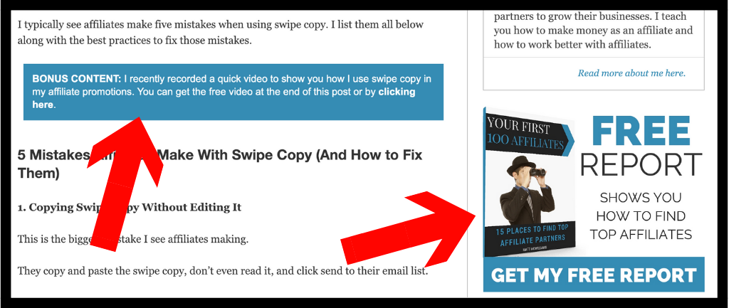 lead magnet examples swipe copy