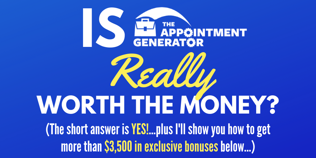 Review of the Appointment Generator by Josh Turner plus bonuses