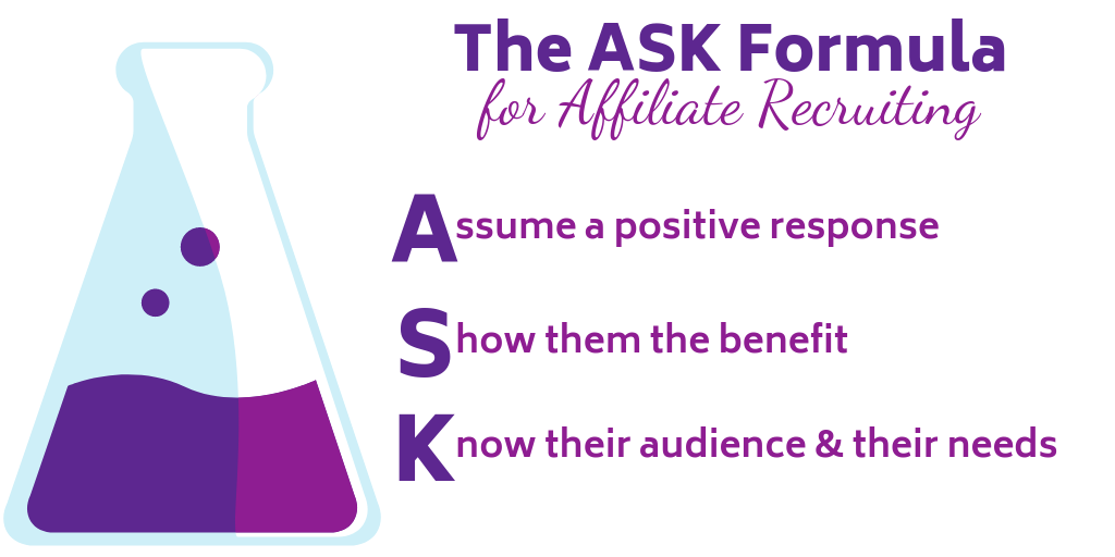 ASK formula for recruiting affiliates