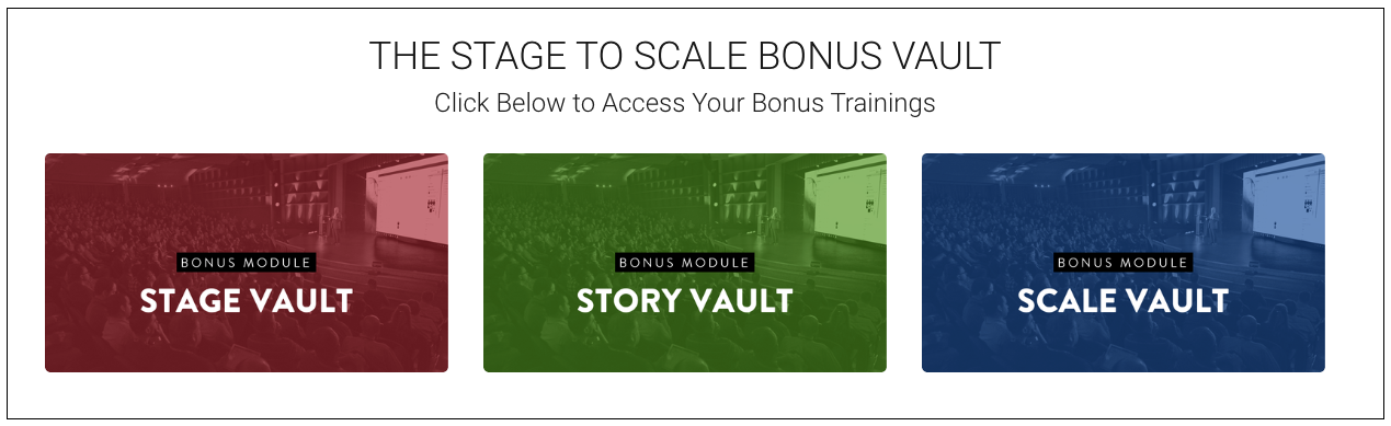 Stage to Scale Bonus Vault - My review
